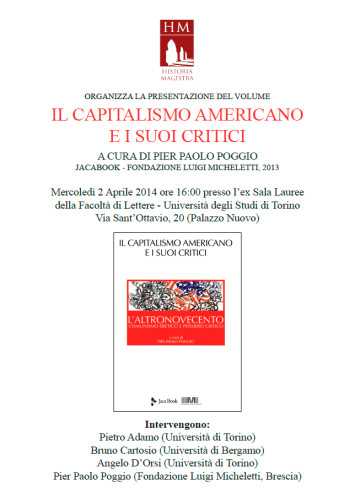 il capitalismo americano e i suoi critici - torino 2 aprile 2014